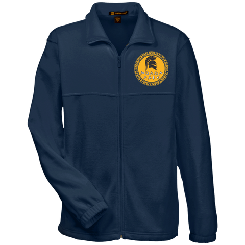 Molon Labe. Spartan Helmet. Yellow/Black. Harriton Fleece Full-Zip. (Embroidered)