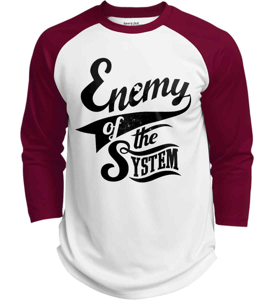 Enemy of The System. Sport-Tek Polyester Game Baseball Jersey.-3