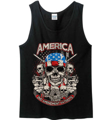 America. 2nd Amendment Patriots. Gildan 100% Cotton Tank Top.