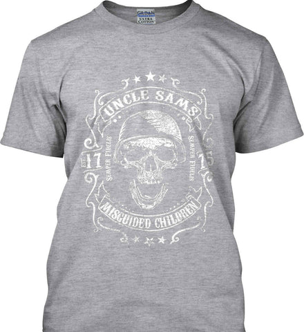 Uncle Sams Misguided Children - USMC - Semper Fidelis. Gildan Tall Ultra Cotton T-Shirt.