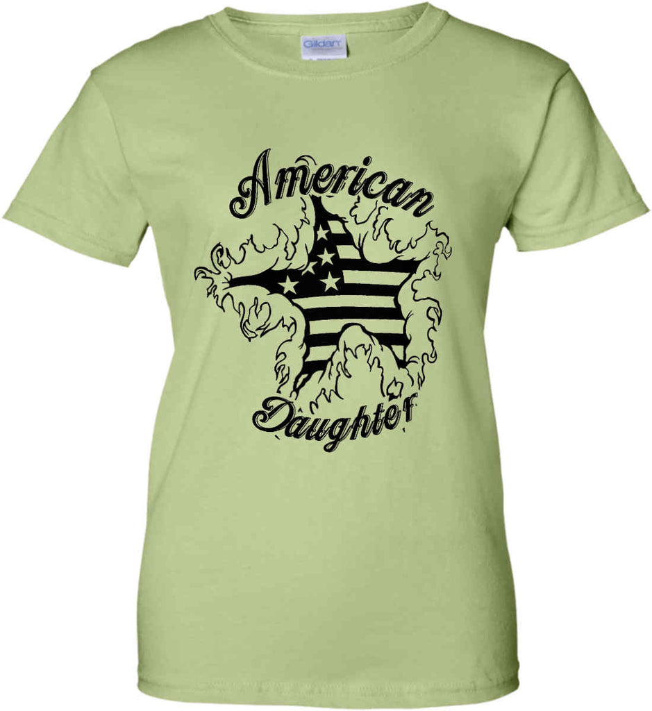 American Daughter. Women's Patriot Design. Women's: Gildan Ladies' 100% Cotton T-Shirt.-8