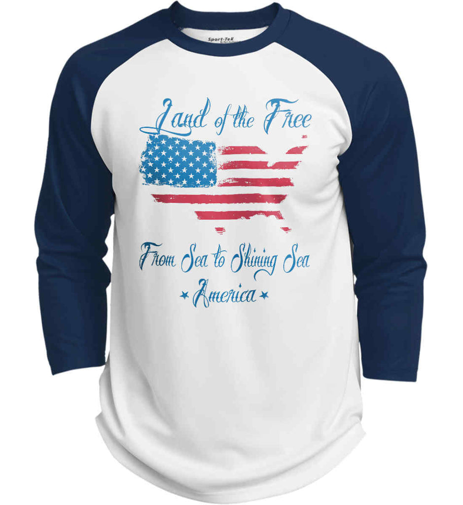 Land of the Free. From sea to shining sea. Sport-Tek Polyester Game Baseball Jersey.-7