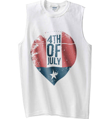 4th of July with Star. Gildan Men's Ultra Cotton Sleeveless T-Shirt.