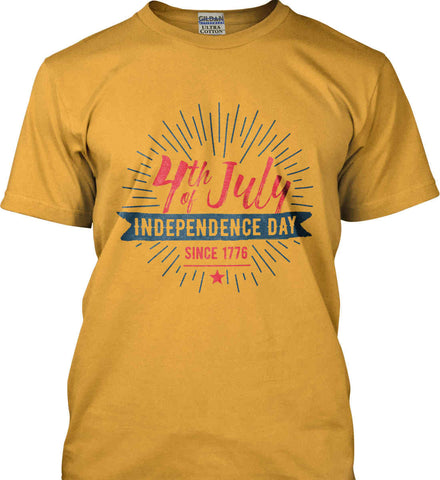 4th of July. Independence Day Since 1776. Gildan Ultra Cotton T-Shirt.