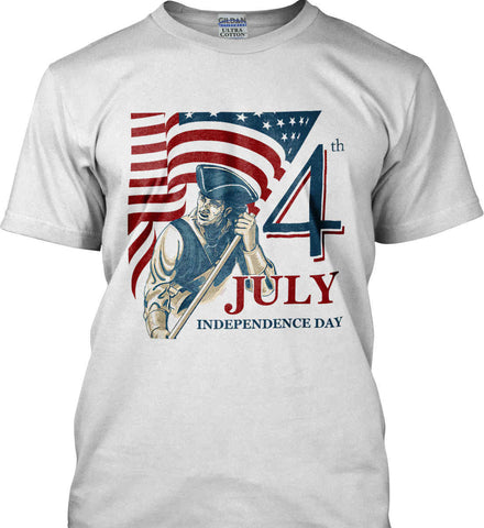 Patriot Flag. July 4th. Independence Day. Gildan Ultra Cotton T-Shirt.