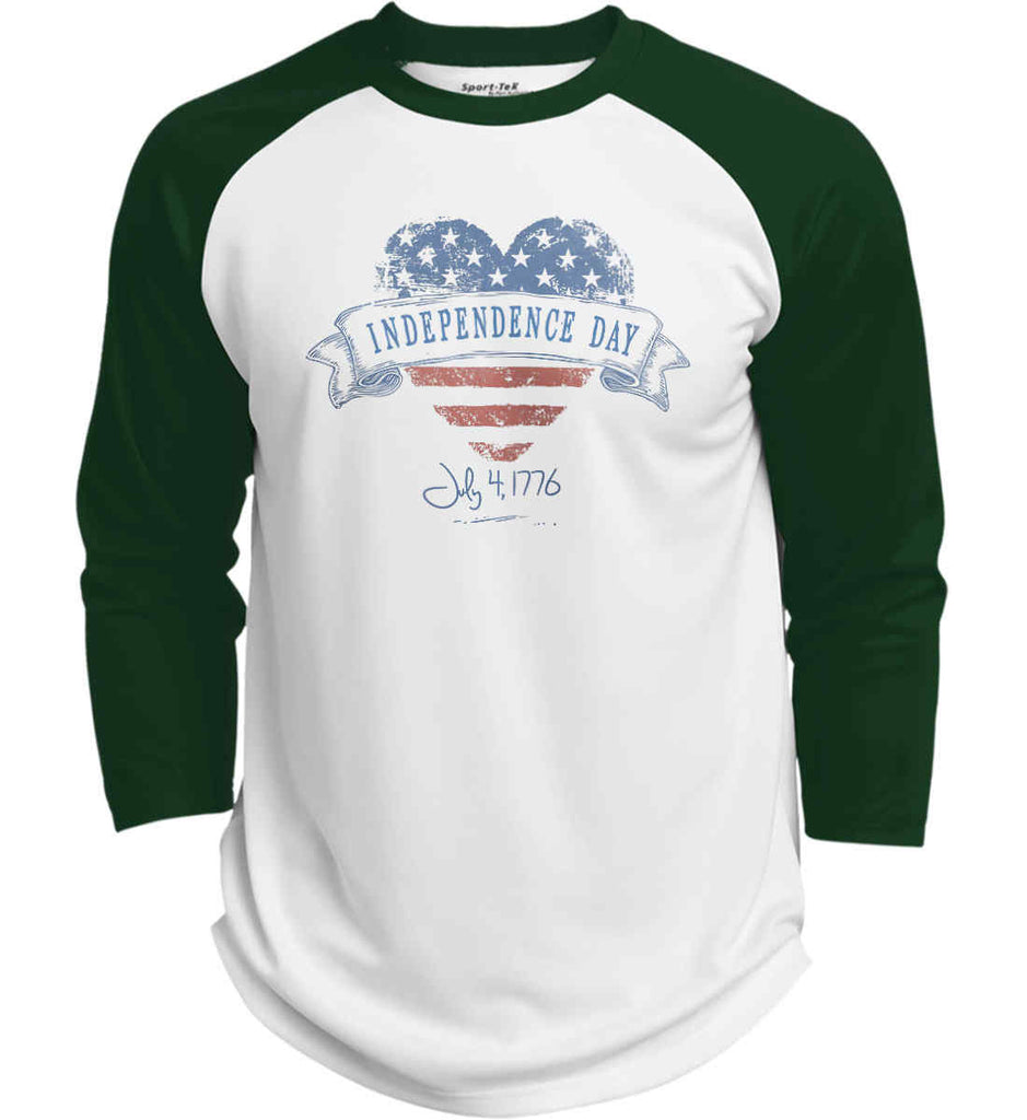 Independence Day. July, 4 1776. Sport-Tek Polyester Game Baseball Jersey.-2