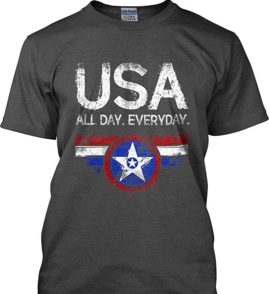 USA All Day Everyday. Gildan Ultra Cotton T-Shirt.-3
