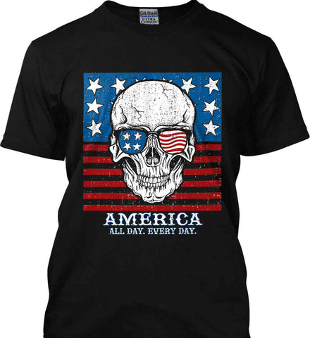 American Shades. America. All Day. Everyday. Gildan Ultra Cotton T-Shirt.