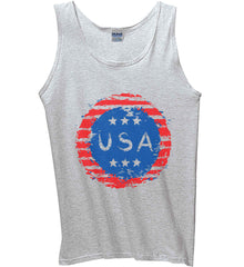 Grungy USA. Gildan 100% Cotton Tank Top.