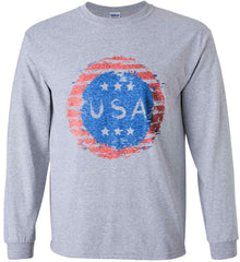 Grungy USA. Gildan Ultra Cotton Long Sleeve Shirt.
