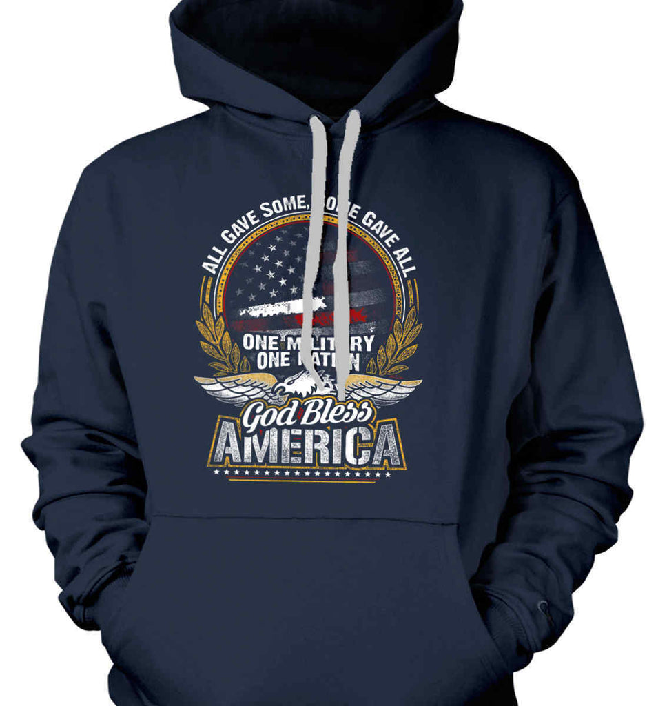 All Gave Some, Some Gave All. God Bless America. Gildan Heavyweight Pullover Fleece Sweatshirt.-2