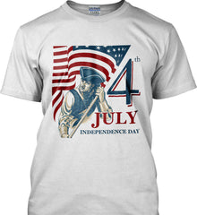 Patriot Flag. July 4th. Independence Day. Gildan Tall Ultra Cotton T-Shirt.