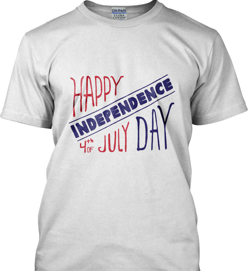 Happy Independence Day. 4th of July. Gildan Ultra Cotton T-Shirt.-3