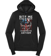 Kaepernick. I Stand for the Anthem. Women's: Sport-Tek Ladies Pullover Hooded Sweatshirt.