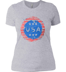 Grungy USA. Women's: Next Level Ladies' Boyfriend (Girly) T-Shirt.