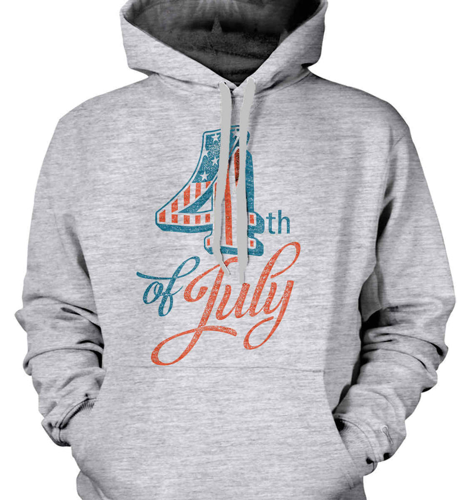 4th of July. Faded Grunge. Gildan Heavyweight Pullover Fleece Sweatshirt.-2