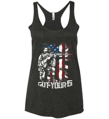 Got Your Six. Soldier Flag. Women's: Next Level Ladies Ideal Racerback Tank.