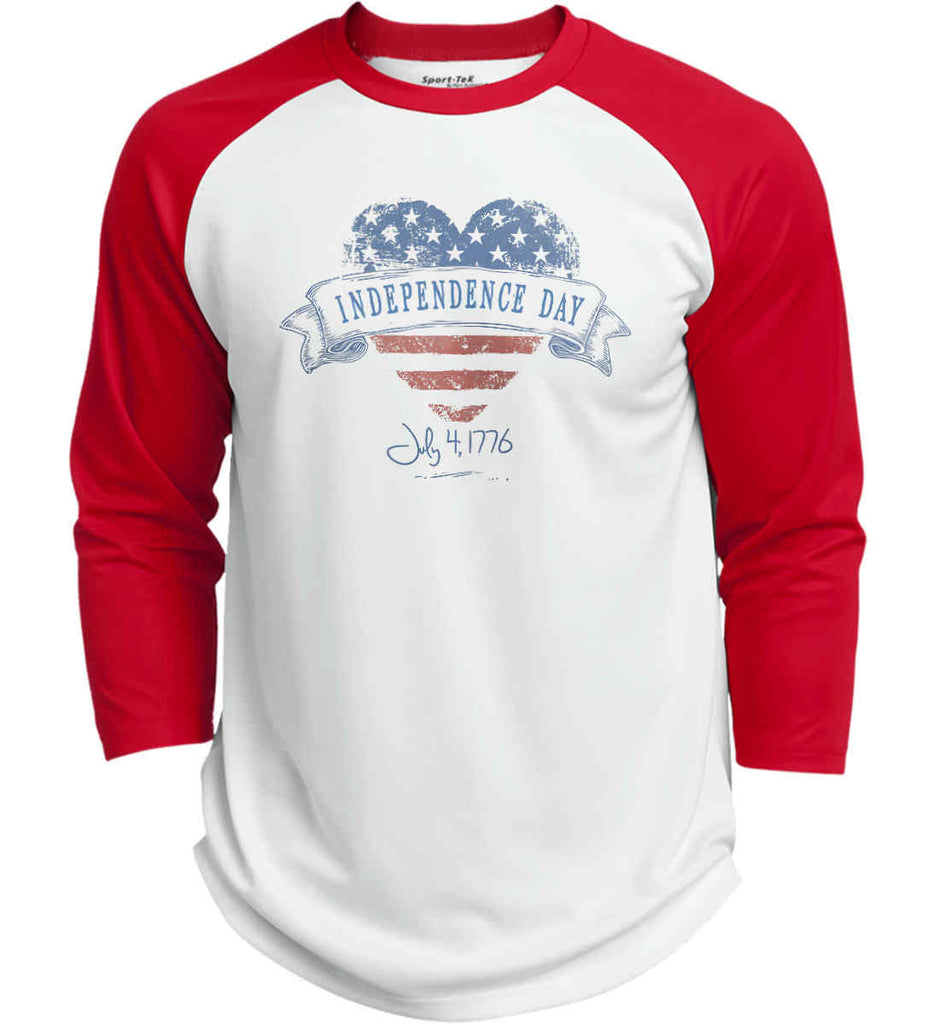 Independence Day. July, 4 1776. Sport-Tek Polyester Game Baseball Jersey.-7