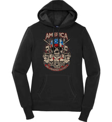 America. 2nd Amendment Patriots. Women's: Sport-Tek Ladies Pullover Hooded Sweatshirt.