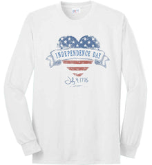Independence Day. July, 4 1776. Port & Co. Long Sleeve Shirt. Made in the USA..