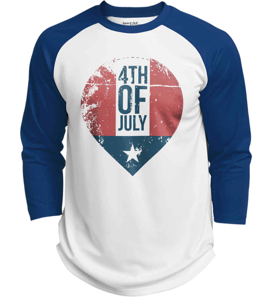 4th of July with Star. Sport-Tek Polyester Game Baseball Jersey.-6