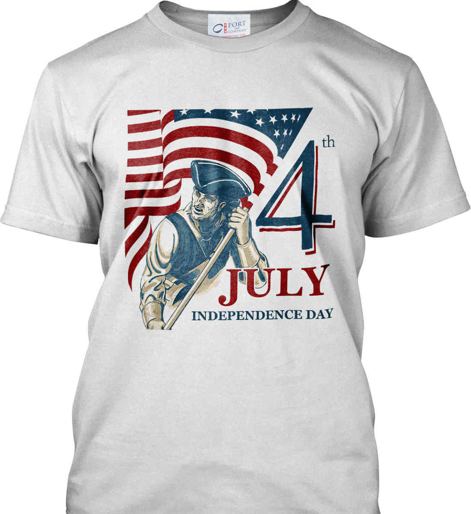 Patriot Flag. July 4th. Independence Day. Port & Co. Made in the USA T-Shirt.-2