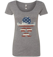 Do you even know how to Patriot Bro? Women's: Next Level Ladies' Triblend Scoop.