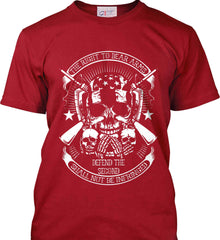 The Right to Bear Arms. Shall Not Be Infringed. Since 1791. White Print. Port & Co. Made in the USA T-Shirt.