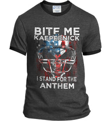 Kaepernick. I Stand for the Anthem. Port and Company Ringer Tee.