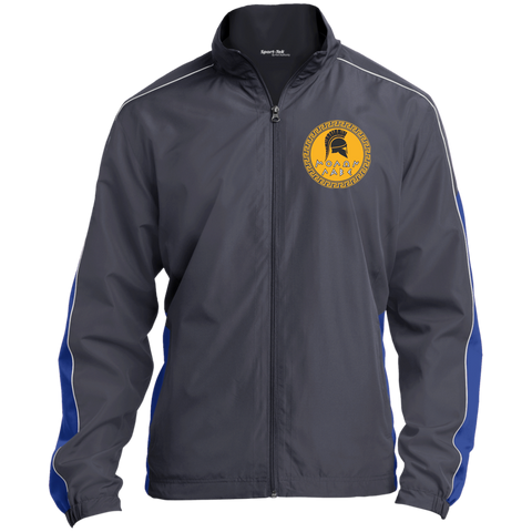Molon Labe. Spartan Helmet. Yellow/Black. Sport-Tek Colorblock Windbreaker. (Embroidered)