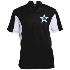 USA. Inside Star. Red, White and Blue. Sport-Tek Men's Colorblock Performance Polo. (Embroidered)