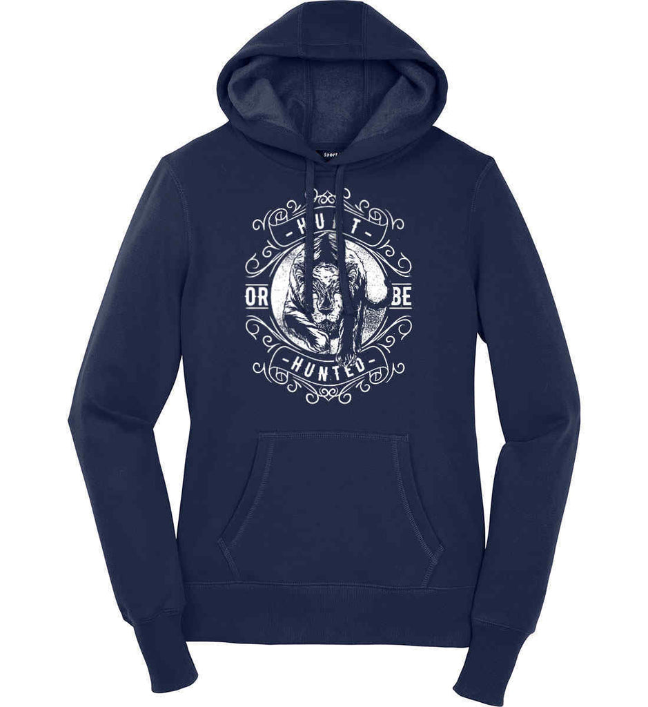 Hunt or be Hunted. Women's: Sport-Tek Ladies Pullover Hooded Sweatshirt.-5