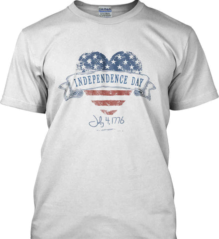Independence Day. July, 4 1776. Gildan Ultra Cotton T-Shirt.