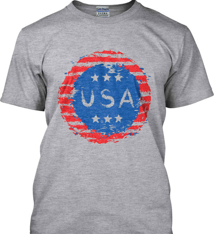 Grungy USA. Gildan Tall Ultra Cotton T-Shirt.