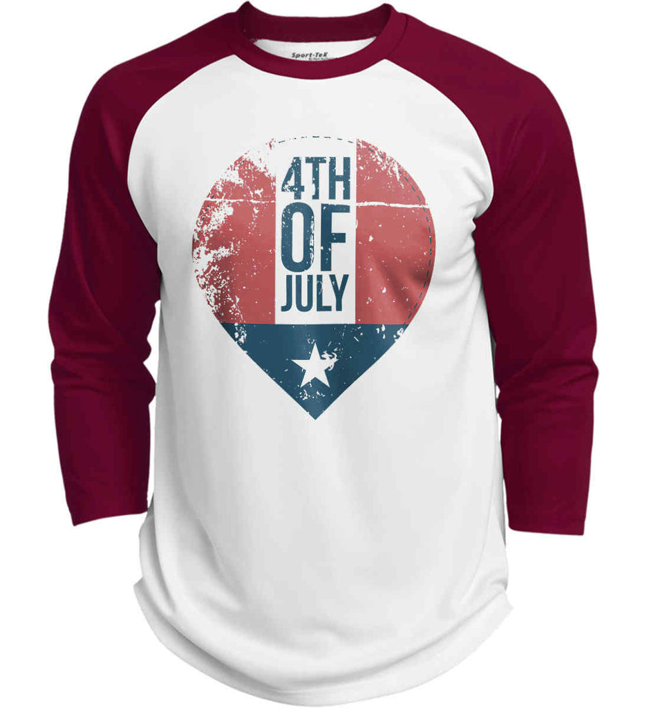 4th of July with Star. Sport-Tek Polyester Game Baseball Jersey.-4