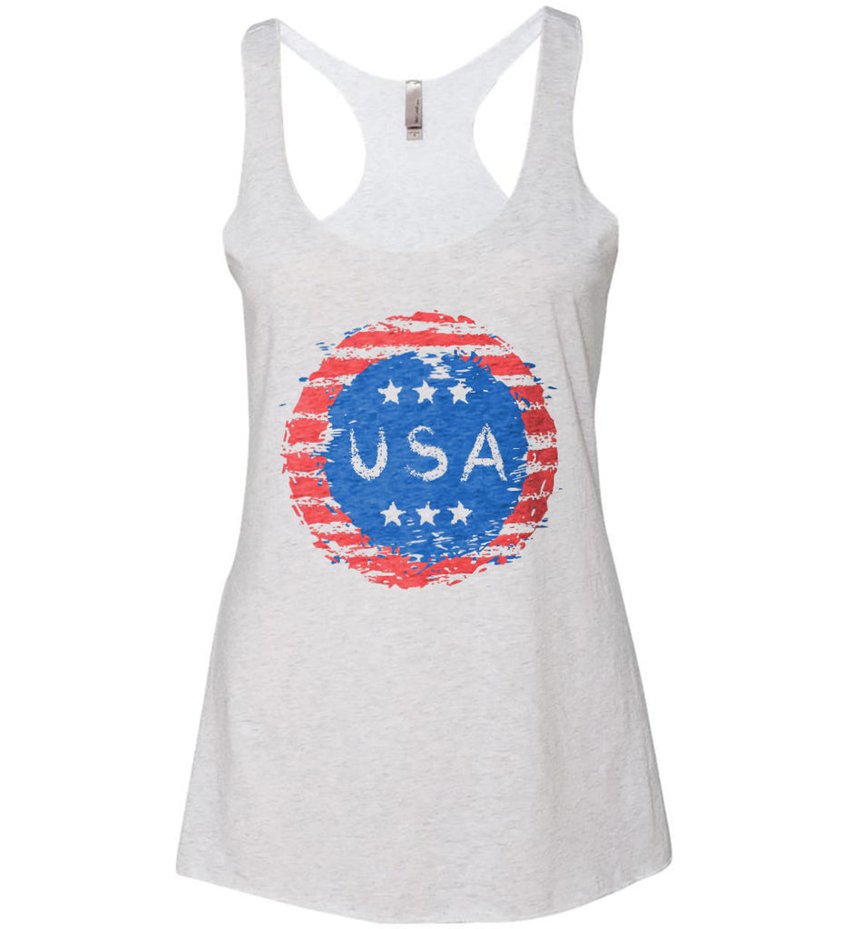 Grungy USA. Women's: Next Level Ladies Ideal Racerback Tank.-1