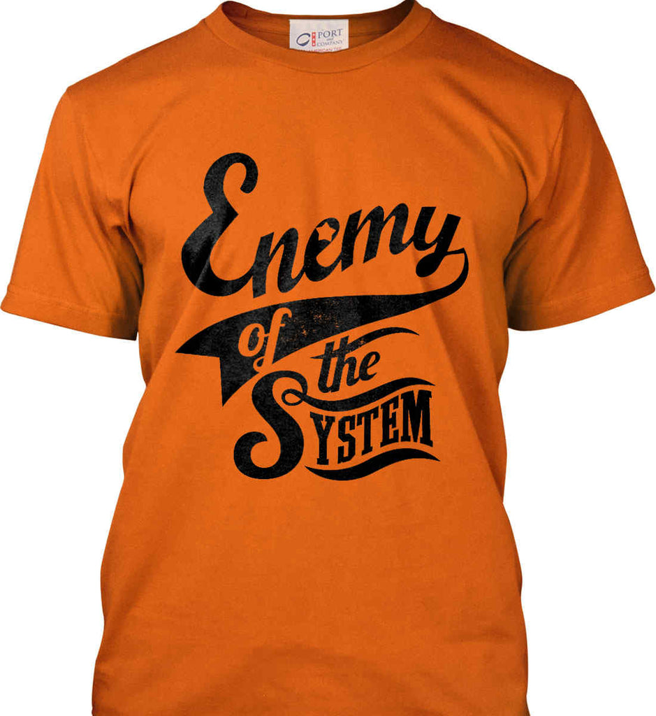 Enemy of The System. Port & Co. Made in the USA T-Shirt.-4