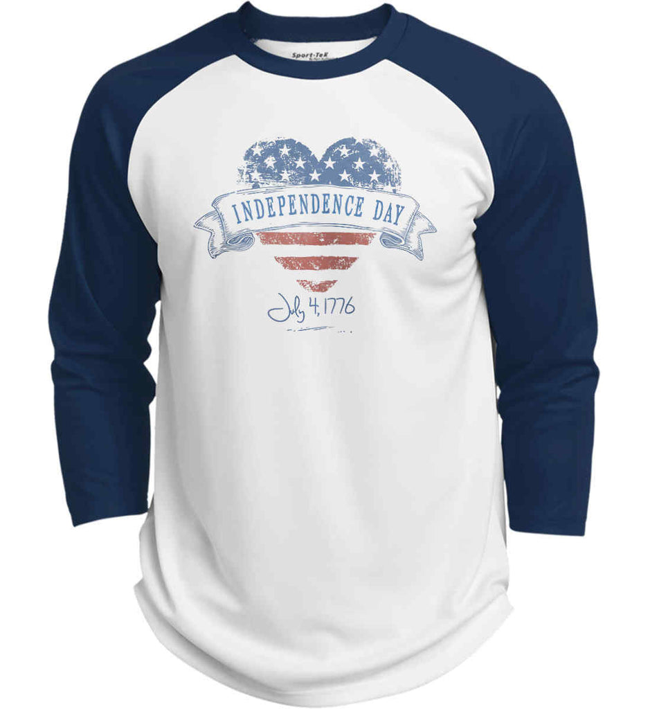 Independence Day. July, 4 1776. Sport-Tek Polyester Game Baseball Jersey.-5