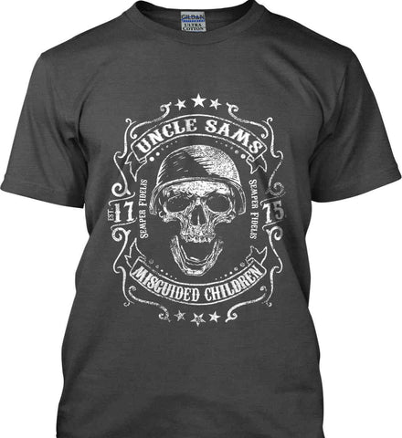 Uncle Sams Misguided Children - USMC - Semper Fidelis. Gildan Ultra Cotton T-Shirt.