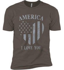 America I Love You Next Level Premium Short Sleeve T-Shirt.
