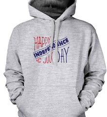 Happy Independence Day. 4th of July. Gildan Heavyweight Pullover Fleece Sweatshirt.