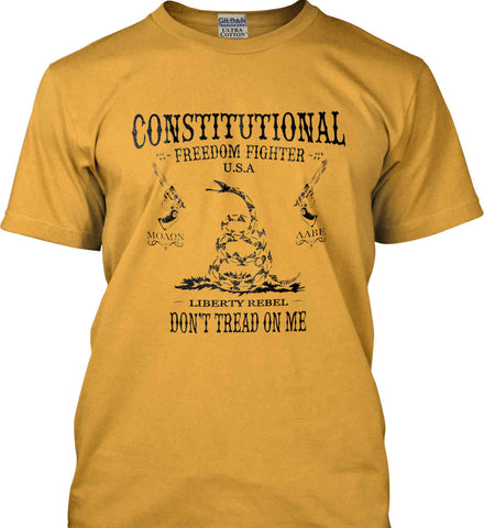 Constitutional Freedom Fighter: Liberty Rebel: Molan Labe : Second Amendment. Black Print. Gildan Ultra Cotton T-Shirt.