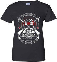 The Right to Bear Arms. Shall Not Be Infringed. Since 1791. Women's: Gildan Ladies' 100% Cotton T-Shirt.