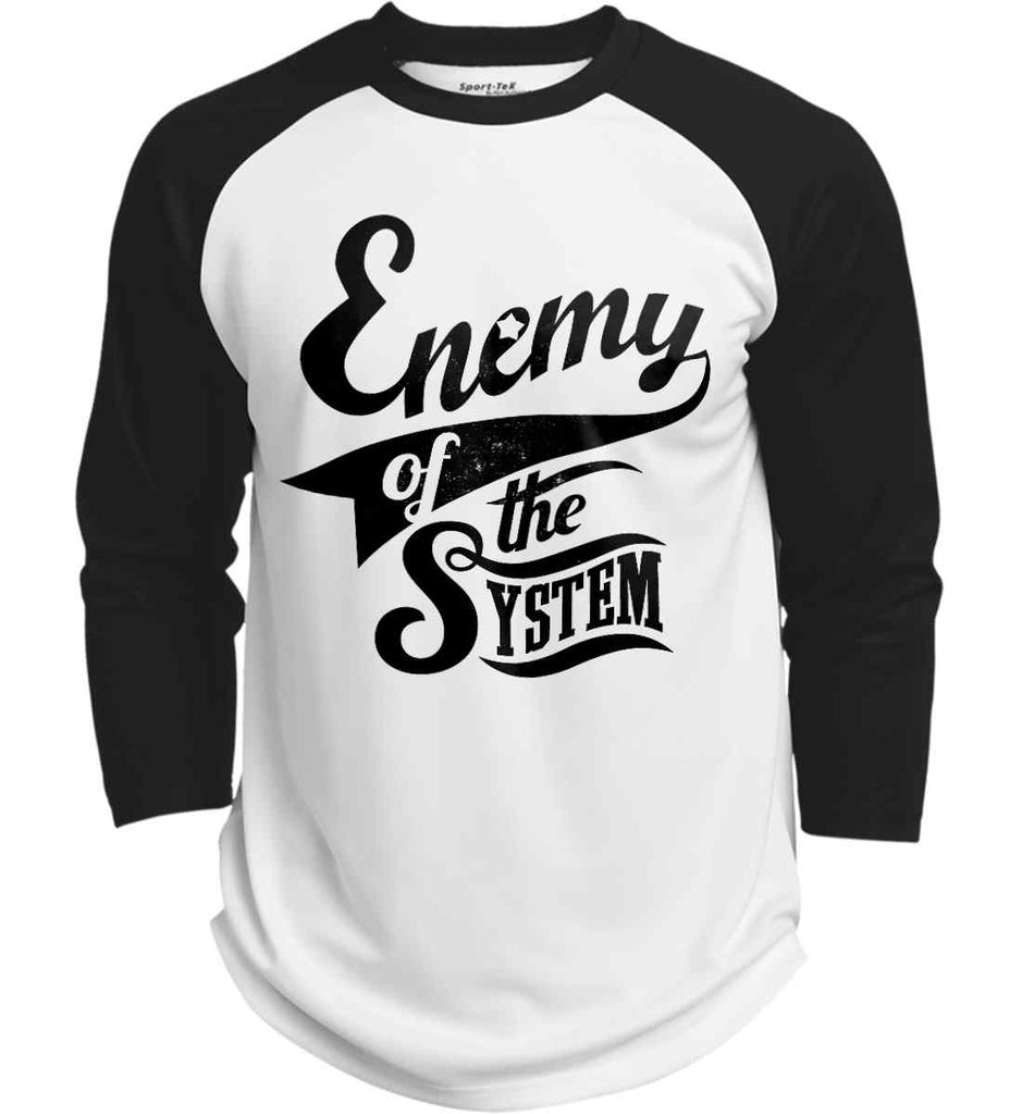 Enemy of The System. Sport-Tek Polyester Game Baseball Jersey.-1