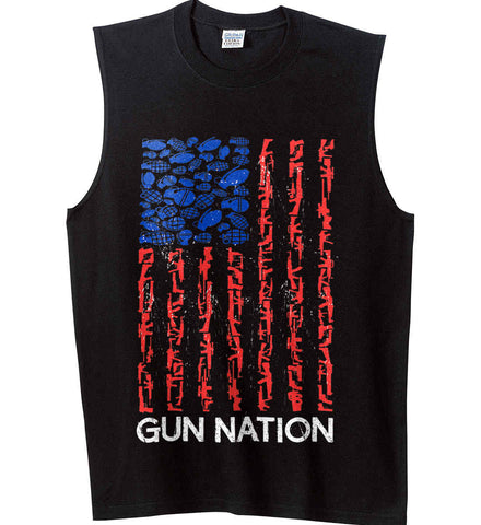 Gun Nation. Gildan Men's Ultra Cotton Sleeveless T-Shirt.