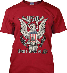 Don't Tread on Me. Eagle with Shield and Rattlesnake. Gildan Ultra Cotton T-Shirt.