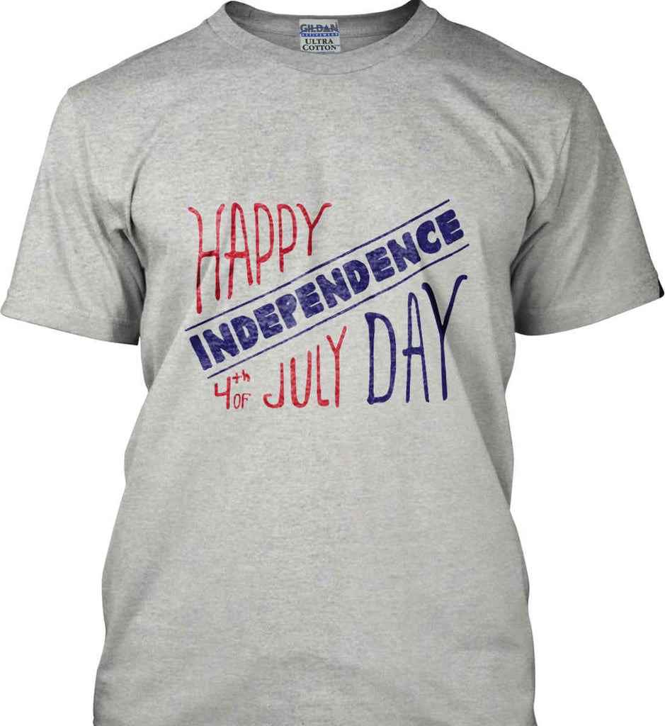 Happy Independence Day. 4th of July. Gildan Ultra Cotton T-Shirt.-2