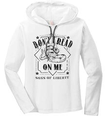 Don't Tread on Me. Snake. Sons of Liberty. Black Print. Women's: Anvil Ladies' Long Sleeve T-Shirt Hoodie.