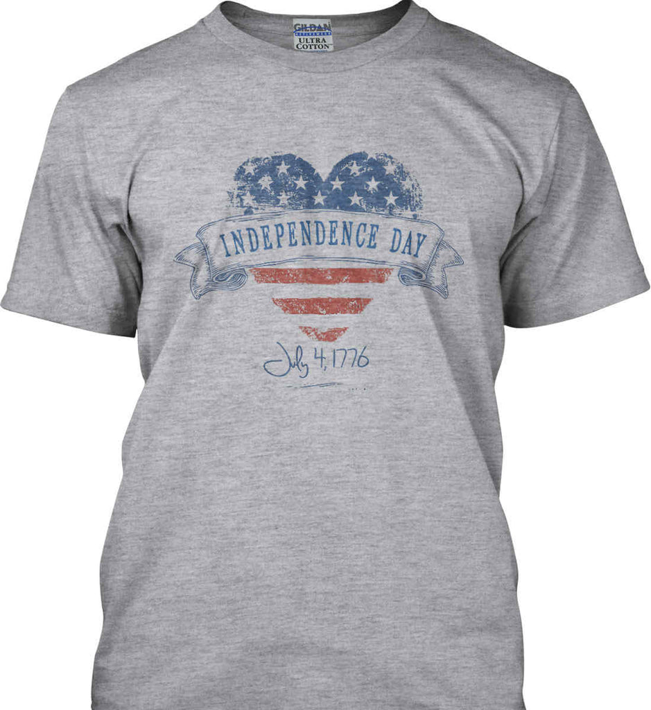 Independence Day. July, 4 1776. Gildan Tall Ultra Cotton T-Shirt.-2