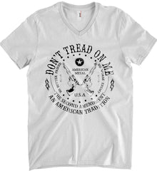 Don't Tread on Me: The Second Amendment: An American Tradition. Black Print. Anvil Men's Printed V-Neck T-Shirt.